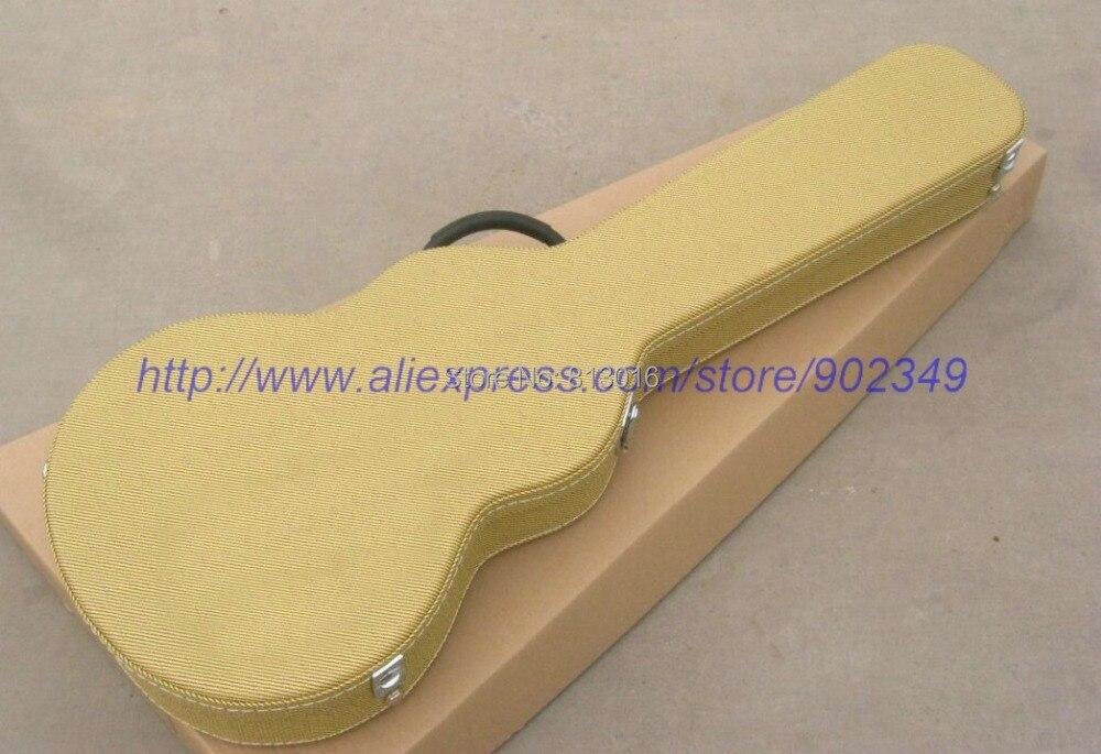 Chitarra elettrica di Colore Giallo Hardcase Non vende separatamente, vendita con la chitarra insieme!Chitarra elettrica di Colore Giallo Hardcase Non vende separatamente, vendita con la chitarra insieme!