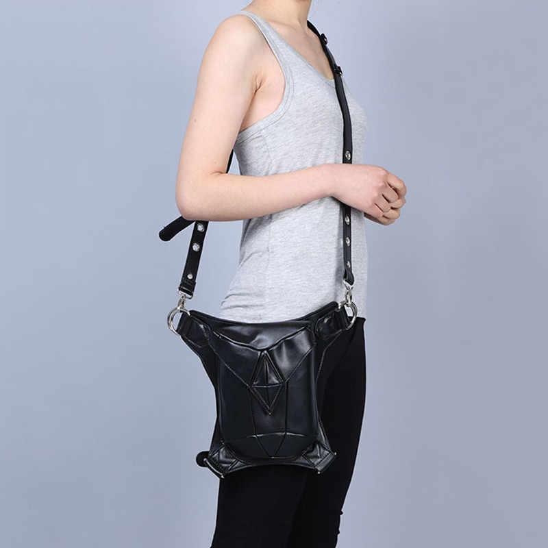 ショルダーリュック革スチームパンクバッグホルスター財布carteras mujer太ももモーター脚アウトローパックポケット女性バッグスチームパンクバッグ