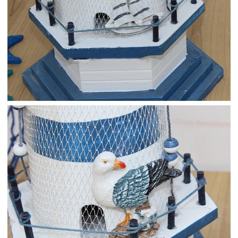 Ағаш маяк декорациясы Үйге арналған - Үйдің декоры - фото 3