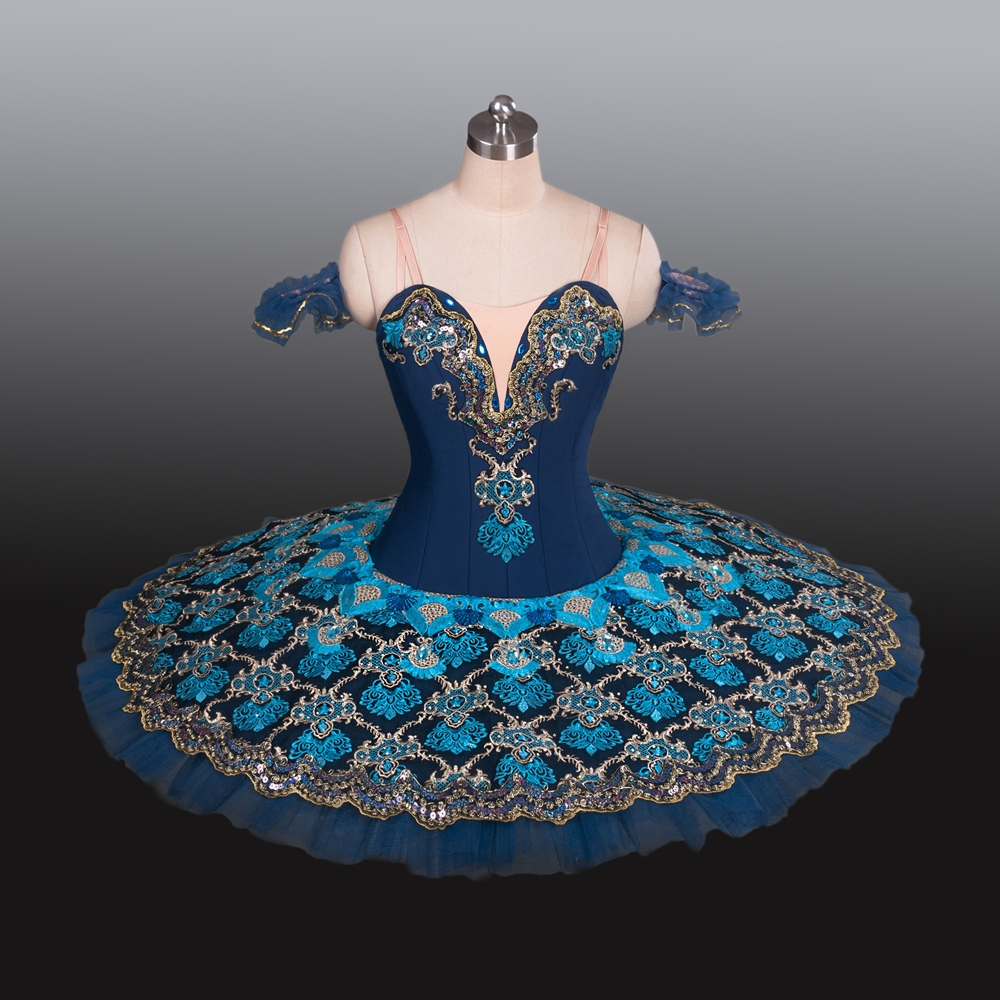 High Quality Royal Blue YAGP Professional Ballet Nutcracker Competiton Tutu Women Classical Pancake Doll Tutu Costume Dress