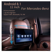 Car Screen Rear Entertainment System Auto TV Rear Seat Android 8.1 DVD Headrest Display Monitor For Mercedes E class V260L E300L