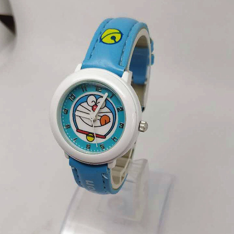 Permalink to Children's watch boys and girls cartoon Doraemon tinkling cat primary and middle school students waterproof quartz  watch