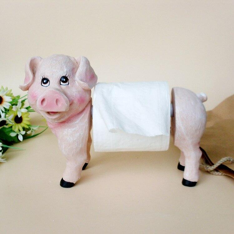 XXXG Private Custom Table Towel Rack Piggy Meat Paper Holder Resin Craft  Ornaments Happy Kitchen Helper