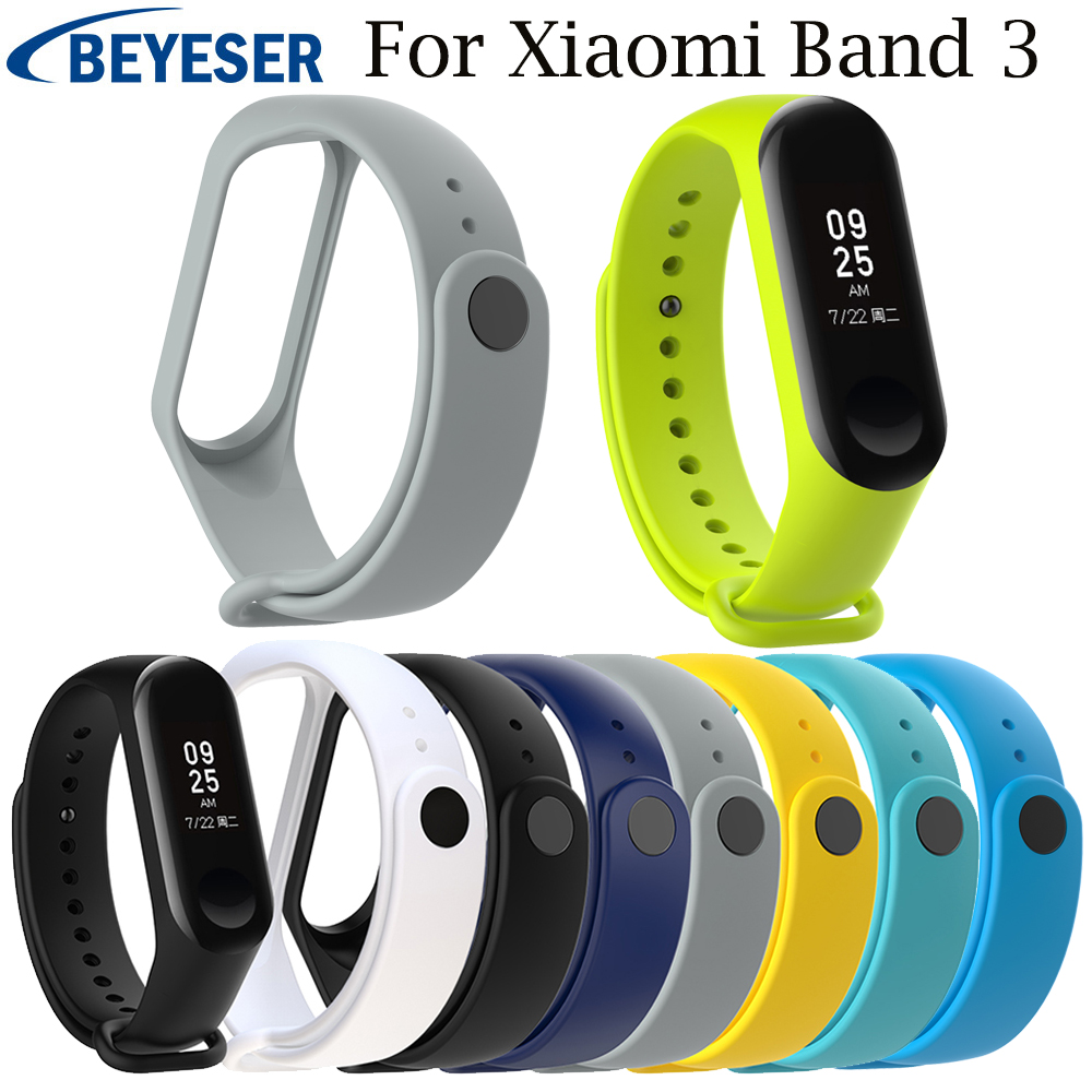 Multicolor Silicone Replacement Soft Band For Xiaomi Mi Band 3 Sport Strap Watch Band Wrist Strap For Xiaomi Mi Band3 Wristband