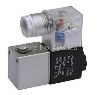 Free Shipping 10PCS/Lot 1/8 2 Way Electric Pneumatic Air Solenoid Valve 2V025-06 AC220V free shipping solenoid valve with lead wire 3 way 1 8 pneumatic air solenoid control valve 3v110 06 voltage optional