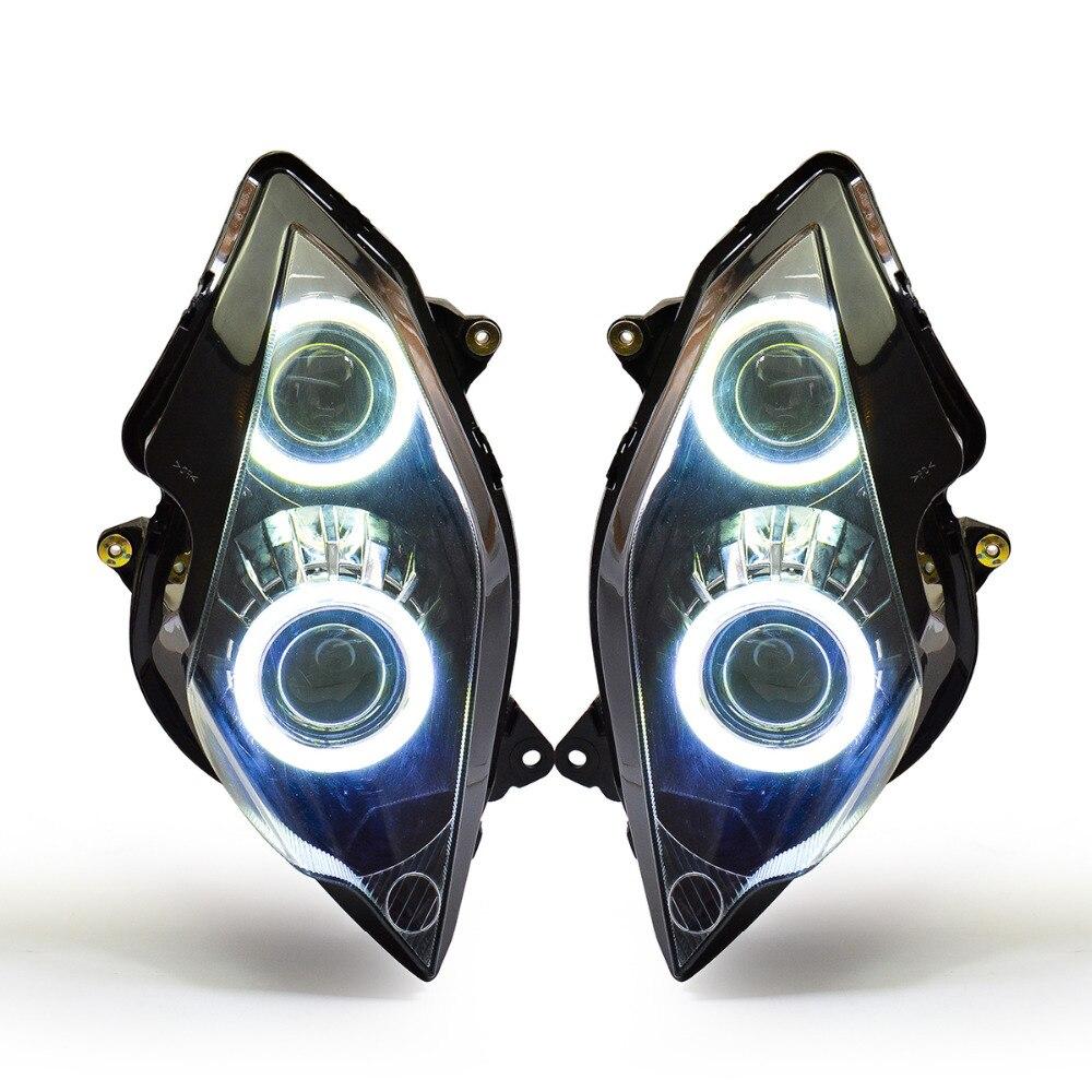 KT Headlight for Honda VFR800 2002 2012 LED Angel Eye ...