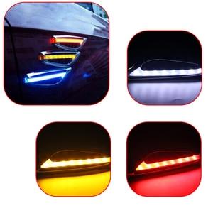 """LEEPEE 1 пара 12V 3W 46 светодиодный Футболка с принтом """"автомобиль"""" Поворотники боковые огни Светодиодный автомобильный боковой лампы лезвие Форма авто-Стайлинг авто аксессуары"""