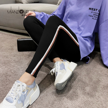 2019 New Fashion Women's Spring And Autumn High Elasticity And Good Quality Slim Fitness Capris Streetwear Leggings Cotton Pants 1
