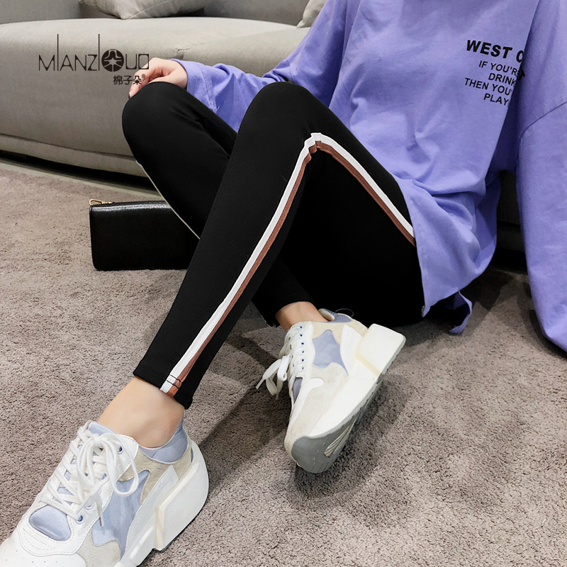 2019 New Fashion Women s Spring And Autumn High Elasticity And Good Quality Slim Fitness Capris