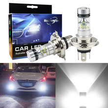 2Pcs High Power H4 H7 H8 H11 9005 HB3 9006 HB4 100W Car LED Fog light Extremely Bright 6000K Lights Bulbs 1200LM