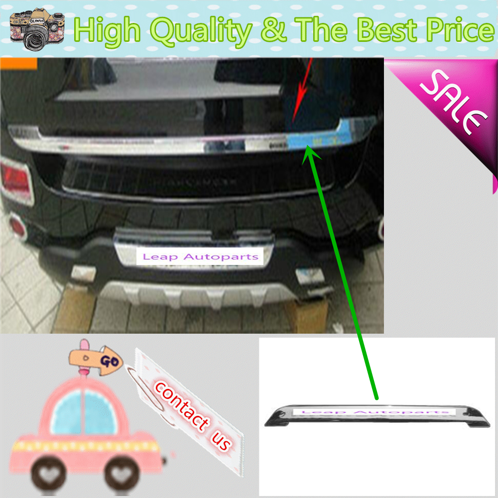 Car stainless steel Rear door License tailgate bumper frame plate trim lamp trunk 1pcs for Toyota Highlander 2008 2009 2010 2011 car rear trunk security shield cargo cover for jeep compass 2007 2008 2009 2010 2011 high qualit auto accessories