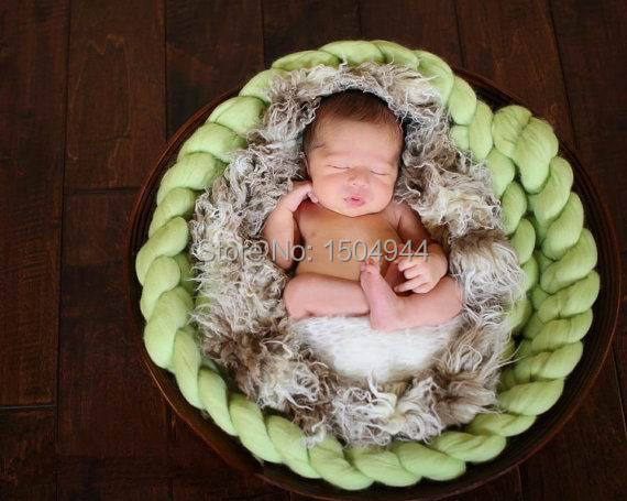 300 g / pc Lana Roving Basket Filler Fiber manta Basket Newborn - Ropa de bebé - foto 3