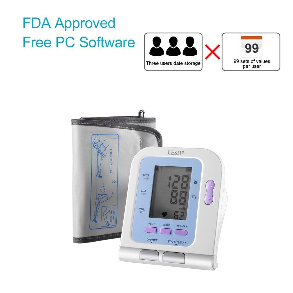 Nouveau moniteur de pression artérielle automatique numérique moniteur de bras moniteur numérique artérielle avec manchette 2.8 pouces LCD affichage - 4