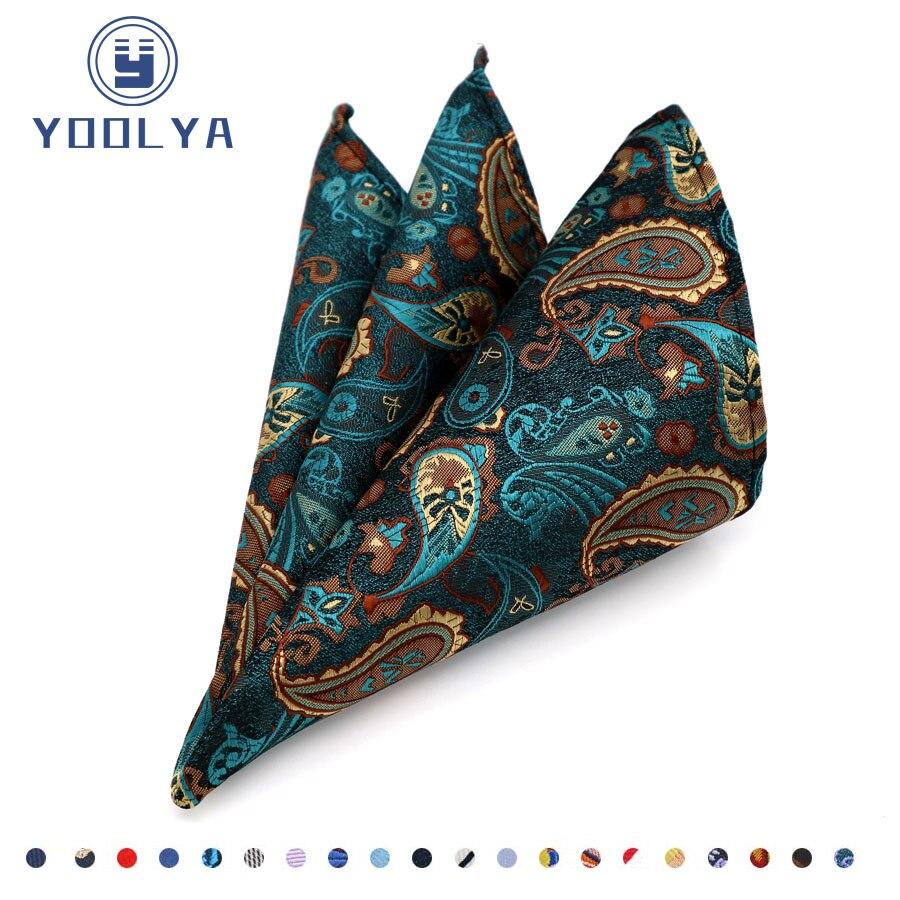 New Man Paisley handkerchief  Silk Jacquard Pocket Square for suit Mens hanky