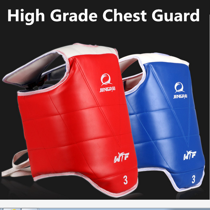 Traditional Taekwondo chest guard kids men women student red blue Karate Taekwondo protectors WTF approved chest supporters TKD taekwondo protective gear set wtf hand chest protector foot shin arm groin guard helmet 8pcs children adult taekwondo karate set