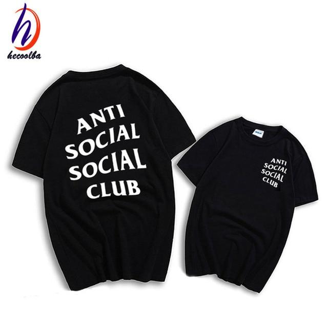 Euro Size,Anti Social Social Club T shirt Hip Hop Swag T-shirt Men and Women Brand Clothing Fashion Tees,GT280