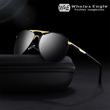 W&E Mens Polarized Sunglasses Classic Brand Pilot Alloy Frame UV400 Driving Glasses Womens Fashion Cool