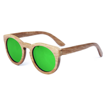 Stylish Wooden Round Frame Sunglasses