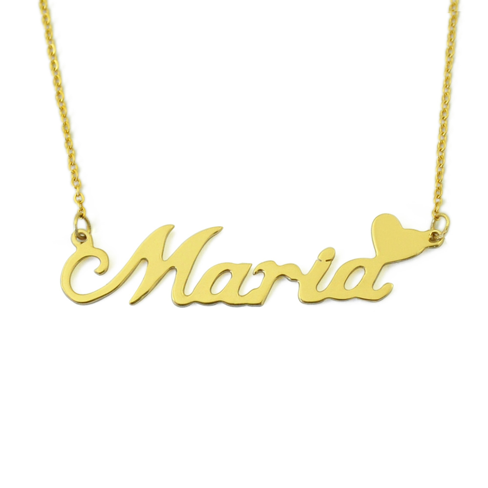 Personalized Name Necklace Custom Name Plate Necklace, Daily Jewelry Gift for Her Valentines Gift Mothers Day Gift(China)