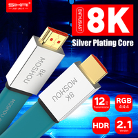 Enthusiast HDMI 2.1 Cable Ultra HD (UHD) 8K@120Hz MOSHOU HDMI 2.1 Cable 48Gbs Male to Male Audio Video Cable HDR 4:4:4