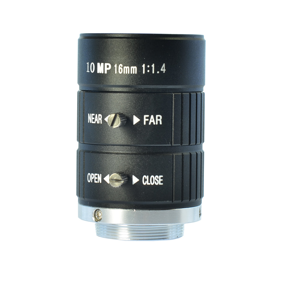 10MP 16mm HD Industrial Camera Fixed Manual IRIS Focus Zoom Lens CS Mount CCTV Lens for CCTV Camera or Industrial Microscope 8mm 12mm 16mm cctv ir cs metal lens for cctv video cameras support cs mount 1 3 format f1 2 fixed iris manual focus
