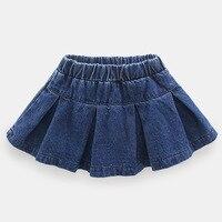DFXD Bebek Kız Etek 2018 Bahar Moda Denim Mavi Çocuklar Tutu Etek Yeni Varış Kore Çocuk Giyim Kot Etek 2-8Years