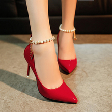 2016 New Design Chaussure Femme Zapatos Mujer Shoes Pearl Style font b Woman b font Pumps