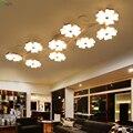 Современная акриловая Светодиодная потолочная люстра с эффектом сливы  изогнутая металлическая люстра для гостиной  светодиодная люстра  ...