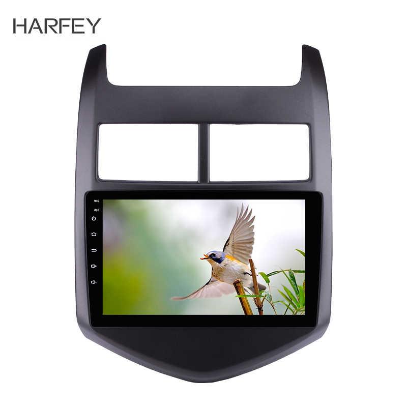 Harfey 9 インチのアンドロイド 8.1 4 コアの車の GPS ナビマルチメディアステレオプレーヤー 2010 2011 2012 2013 ChevyChevroletAVEO サポート DVR