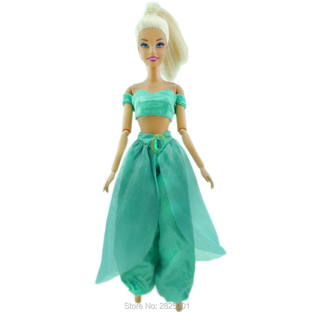 Handmade Fairy Tale Outfit Wedding Party Wear Copy Aladdin Princess Costumes Exotic Clothes For Barbie Doll Accessories Kids Toy Dolls Accessories Dolls & Stuffed Toys