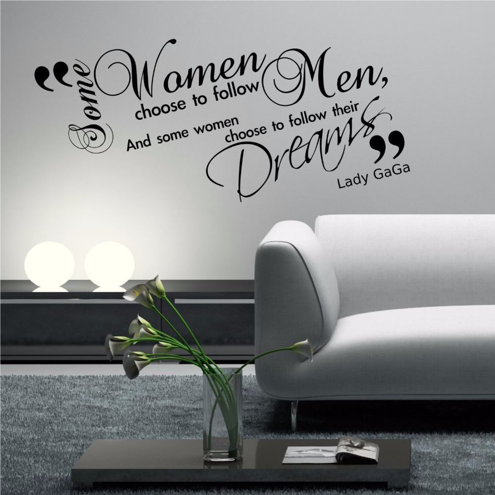 Lady Gaga Gaga Wall Quote Phrase Lounge Wall Art Sticker Quote Decal Stencil Transfer Wall Stickers Sexy beauty girl J944