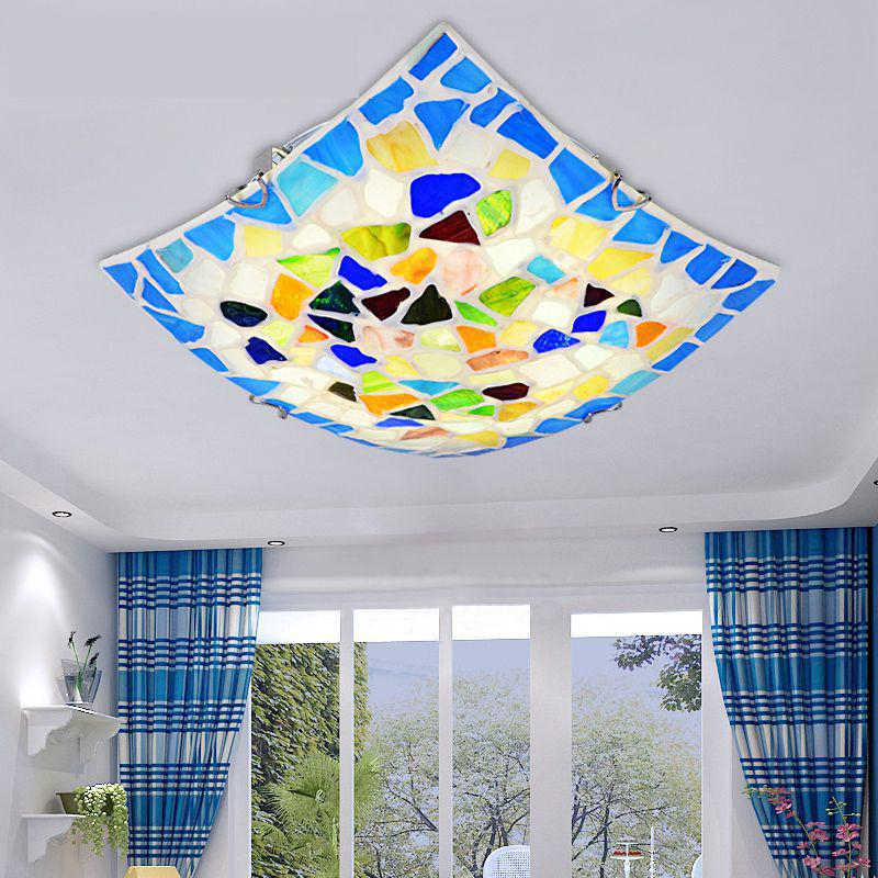 modern brie colorful Shell square Led Lights for bedroom bathroom Ceiling Fixture lights wedding decoration lamps romantic A81modern brie colorful Shell square Led Lights for bedroom bathroom Ceiling Fixture lights wedding decoration lamps romantic A81