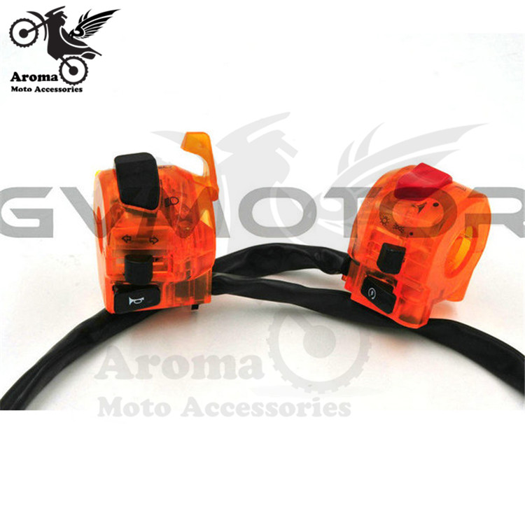 Colorful Orange Universal Motorcycle Switch Light Turn Signal Dirt