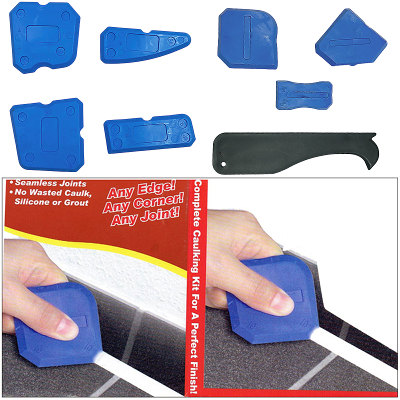 4/9PCS Window Door Glass Silicone Cement Scraper Tool Silicone Sealant Spreader Spatula Scraper Cement Removal Tool Kit