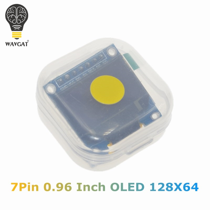 WAVGAT 0.96 Inch SPI OLED Display Module Yellow blue double color 128X64 OLED 7Pin Driver Chip SSD1306 for arduino