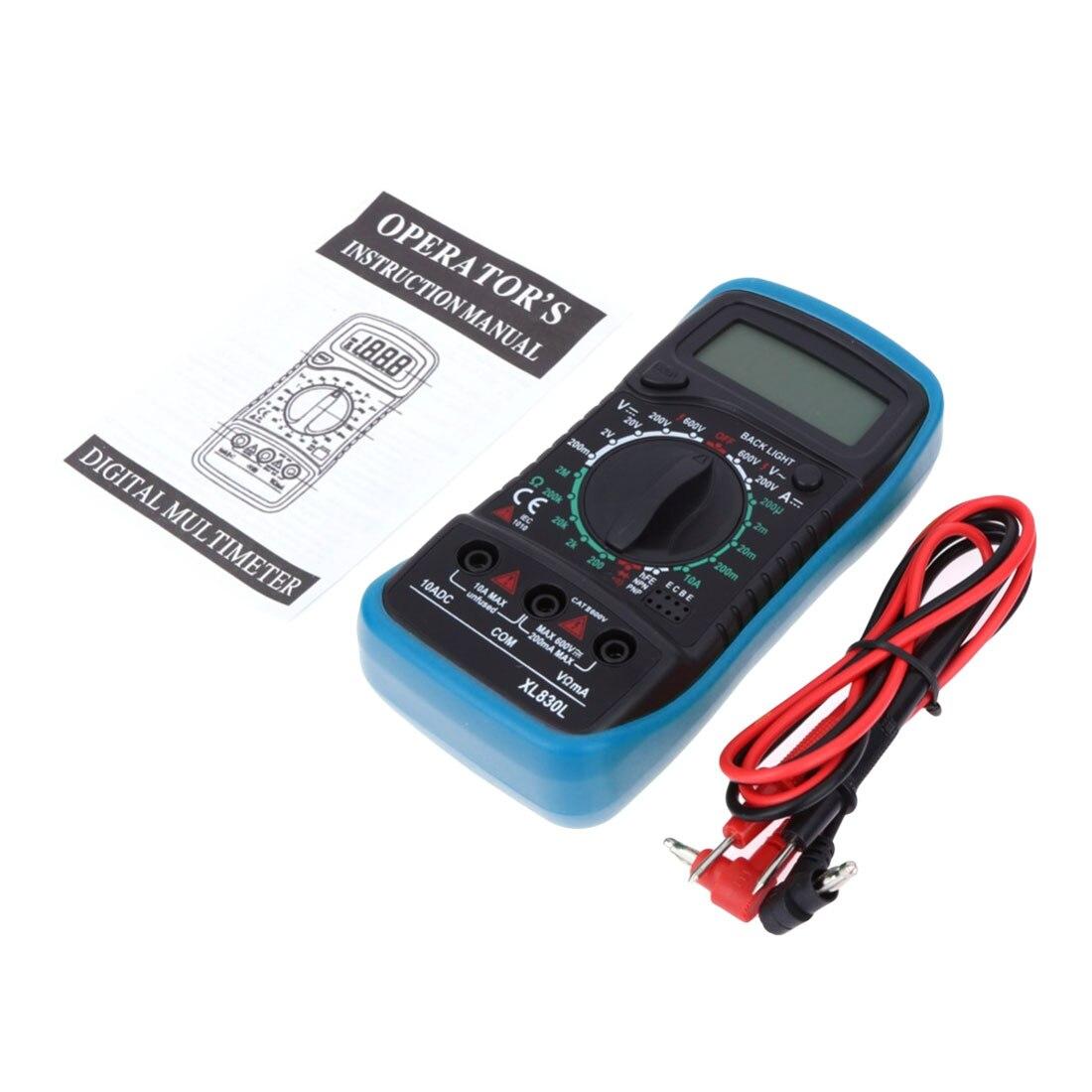 Multímetro Digital LCD Transistor de resistencia al voltaje de corriente hFE Multimetro Multitester Medidor Dijital Multimetro