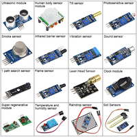 16pcs/lot Raspberry Pi 3 2 Sensor Module Package 16 kinds of Sensor 16 in 1 Sensor Kits for Arduino UNO R3 with Retail Box Case