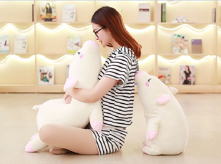 купить soft cotton plush toy prone pig plush toy cute pig large 80cm soft doll cushion throw pillow Christmas gift b1212 по цене 3181.6 рублей