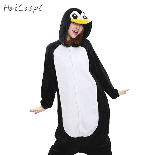 fe81295dbe Kigurumi pingüino mono mujeres pijama adulto todo Animal Cosplay traje de  pijama de franela de la