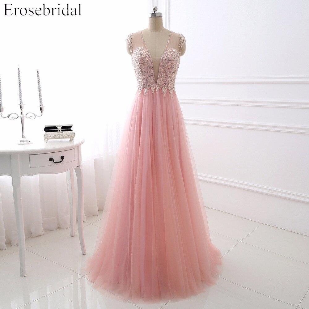 Sexy V ausschnitt Abendkleid 2017 Erosebridal Prickelnde Perlen ...