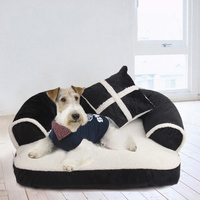 Soft Double Cushion Dog Bed Lounger Sofa Warming Puppy House for Dogs Cat Nest Sleeping Mats Pet Bedding Kennels Pet Supplies