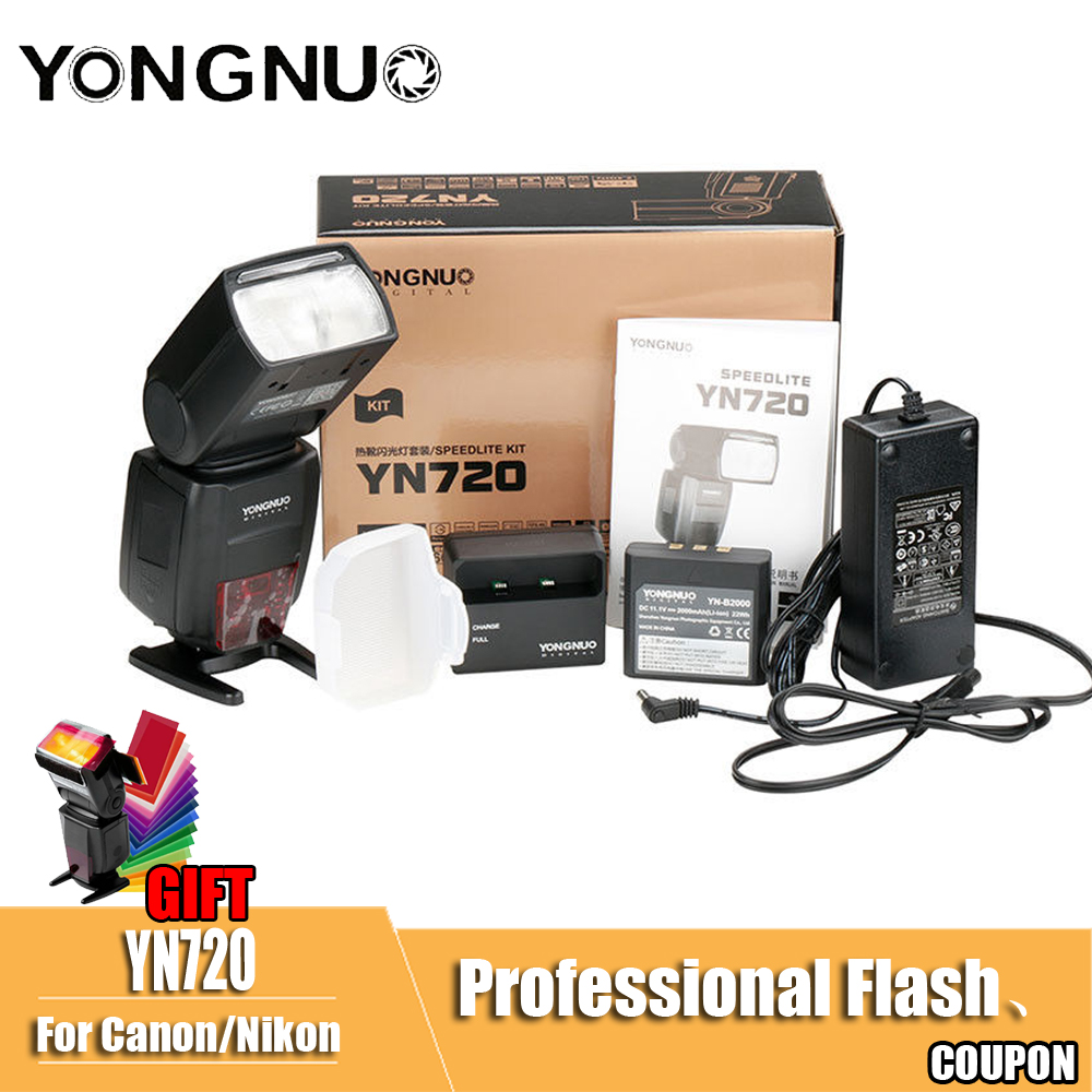 2018 Yongnuo YN720 Speedlite Flash con 2000 mah batteria Al Litio per Canon Nikon Pentax, compatibile YN685 YN560 IV YN560-TX RF605