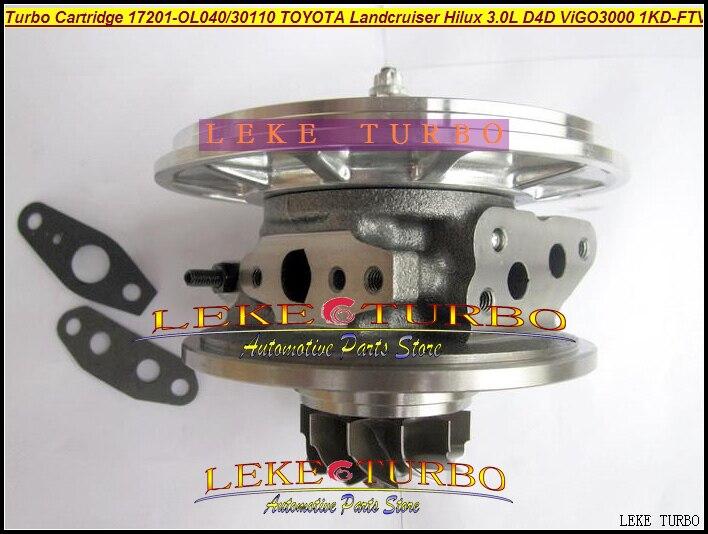 TURBO Cartridge CHRA VGT CT16V 17201-30100 17201-30160 17201-30101 For TOYOTA Land Cruiser HILUX D4D VIGO 3000 1KD-FTV 3.0L free ship turbo cartridge chra ct16v 17201 ol040 17201 30110 turbocharger for toyota landcruiser hilux viigo 3000 1kd ftv 3 0l d