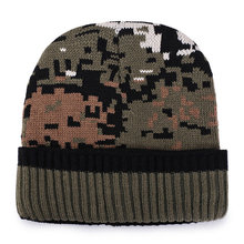 dbe51218efa Wholesale Plus Velvet Thicken Camouflage Winter Hats for Men Women Knitted  Warm Skullies Beanies Hats Outdoor