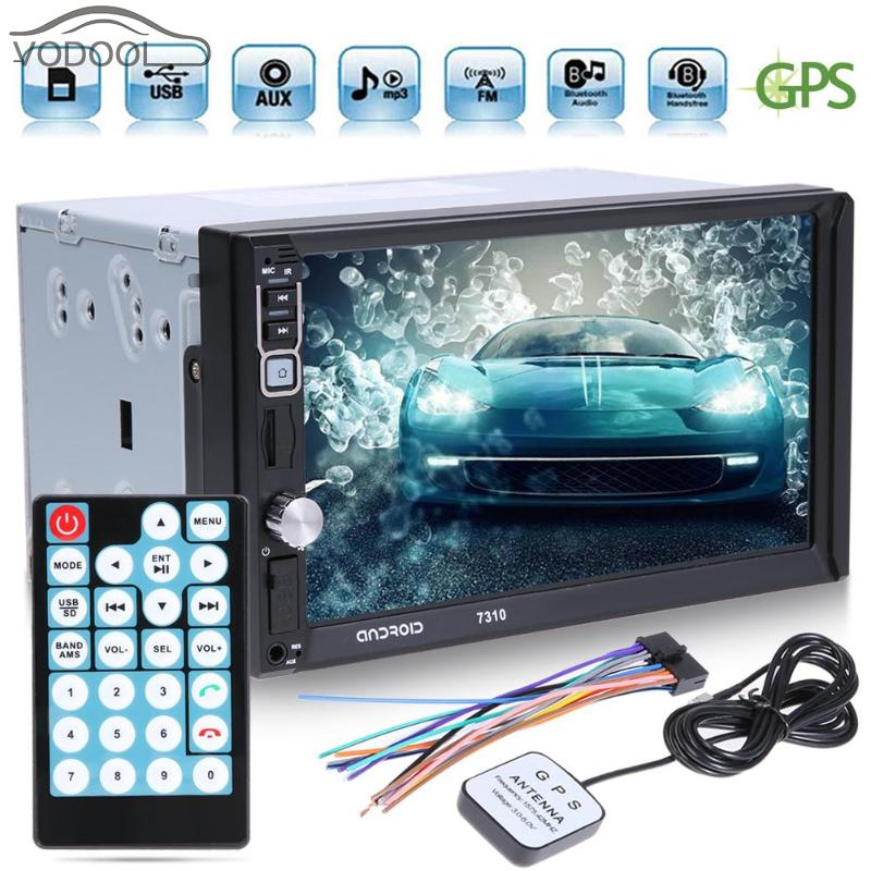 7 2 Din Touch Screen Bluetooth Auto GPS Navigator Car Android 4 Core MP5 Player FM Radio Autoradio with Map Remote Controller 7 2 din touch screen car stereo mp5 player 4core android os bluetooth wifi gps navigator auto fm radio autoradio mirror link