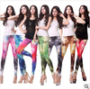 New 2013 Women Sexy Hot Aurora Sky Hex Color Galaxy Lightning Color Black Green Leggings Space