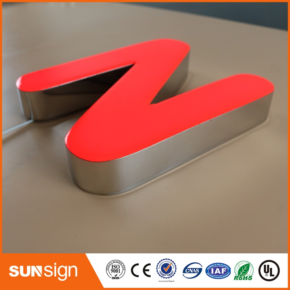 China Acrylic Front Lit Led Letter Resin Signs