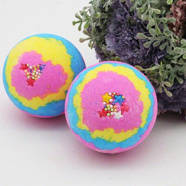 1pcs Spa clean Lavender Bath Salt Ball Body Skin Whitening Ease Relax Stress Oil Bath Ball Natural Bubble Bathing Bombs Balls 1