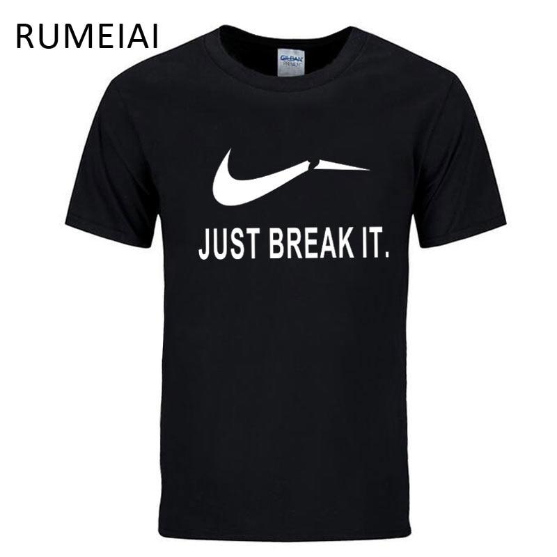 RUMEIAI 2017 New Letter Print T Shirt Mens Black White Comic Con Cosplay T-shirts Summer Skateboard Tee Boy Skate Tshirt Tops