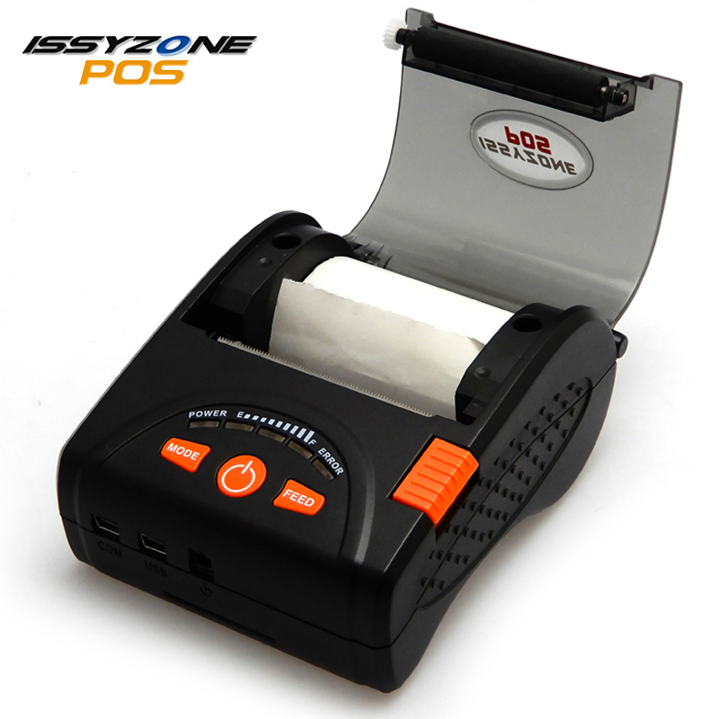 IssyzonePOS Bluetooth Thermal Printer Mobile Mini 58mm Portable Receipt Printers Pegang Tangan untuk Sistem IOS Android IMP001